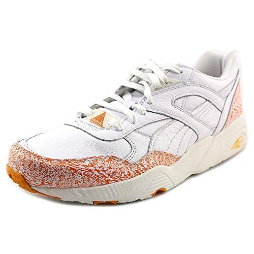Puma Mens R698 Neve Splatter pacchetto Sneakers White/Florescent Orange