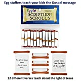 Egglo Scripture Scrolls (12) - Fun Religious/ Christian Kid's Toys for Sunday School Prizes or Party Favors