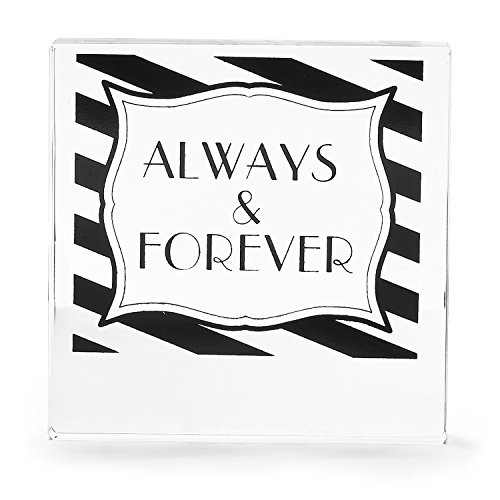 (Hortense B. Hewitt Stripes Galore Always and Forever Acrylic Cake Top Black/White)