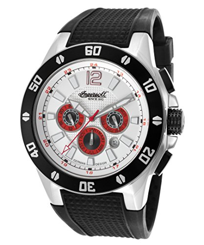 Ingersoll Men's IN3221WH Brazos Analog Display Automatic Self Wind Black Watch