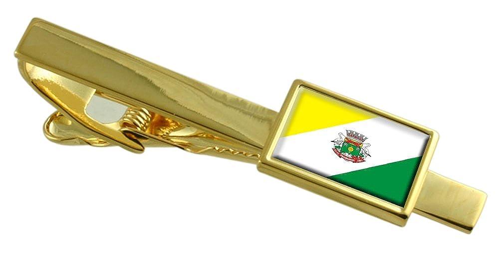 Select Gifts Fraiburgo City Santa Catarina State Flag Gold-Tone Tie Clip
