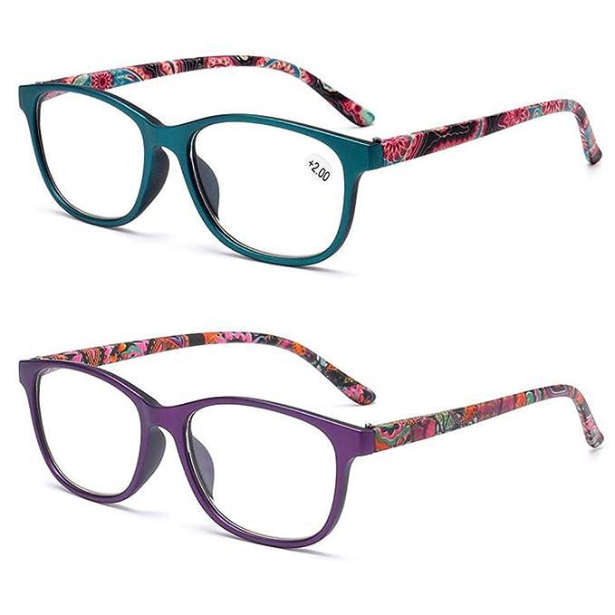 2710739988 Inlefen Unisex Gafas de lectura 2 paquetes Retro Lectura Bisagra de  primavera Gafas Lectura +1.0: Amazon.es: Ropa y accesorios