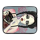 FSKDOM Laptop Sleeve Computer Ultrabook Case Gothic Smoking Women Girl Camera Art Neoprene Computer Bag For All Computer Ultrabook/Lenovo Dell/MacBook Pro Etc For 13 Inch And 15 Inch