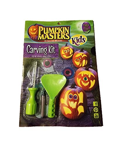 Pumpkin Masters America's Favorite Halloween Pumpkin Carving Kit For Kids 100234 ()