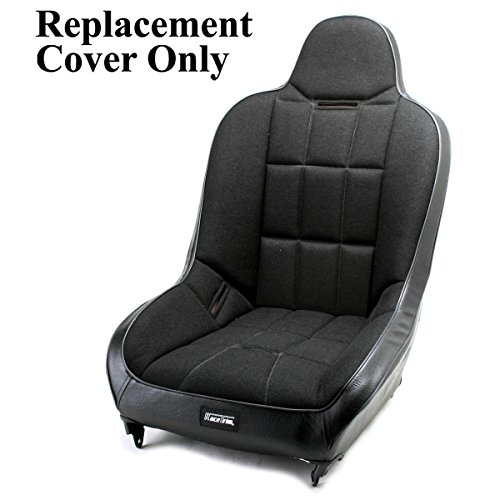 Dune Seats Buggy (Empi 62-2751-7 Race Trim Hi-Back Seat Cover Only - Black Cloth/Black Vinyl)