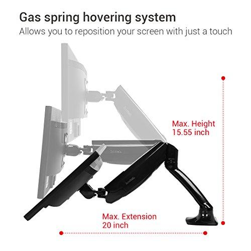 Loctek Monitor Mount Desk Top Vesa Lcd Arm Swivel Heavy