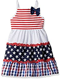 Youngland Girls' Americana Stars and Stripes Mixed...