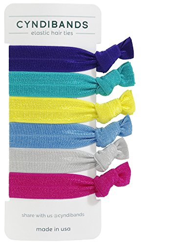 Price comparison product image CyndiBands Set of 6 Solid Hair Ties (Addison)