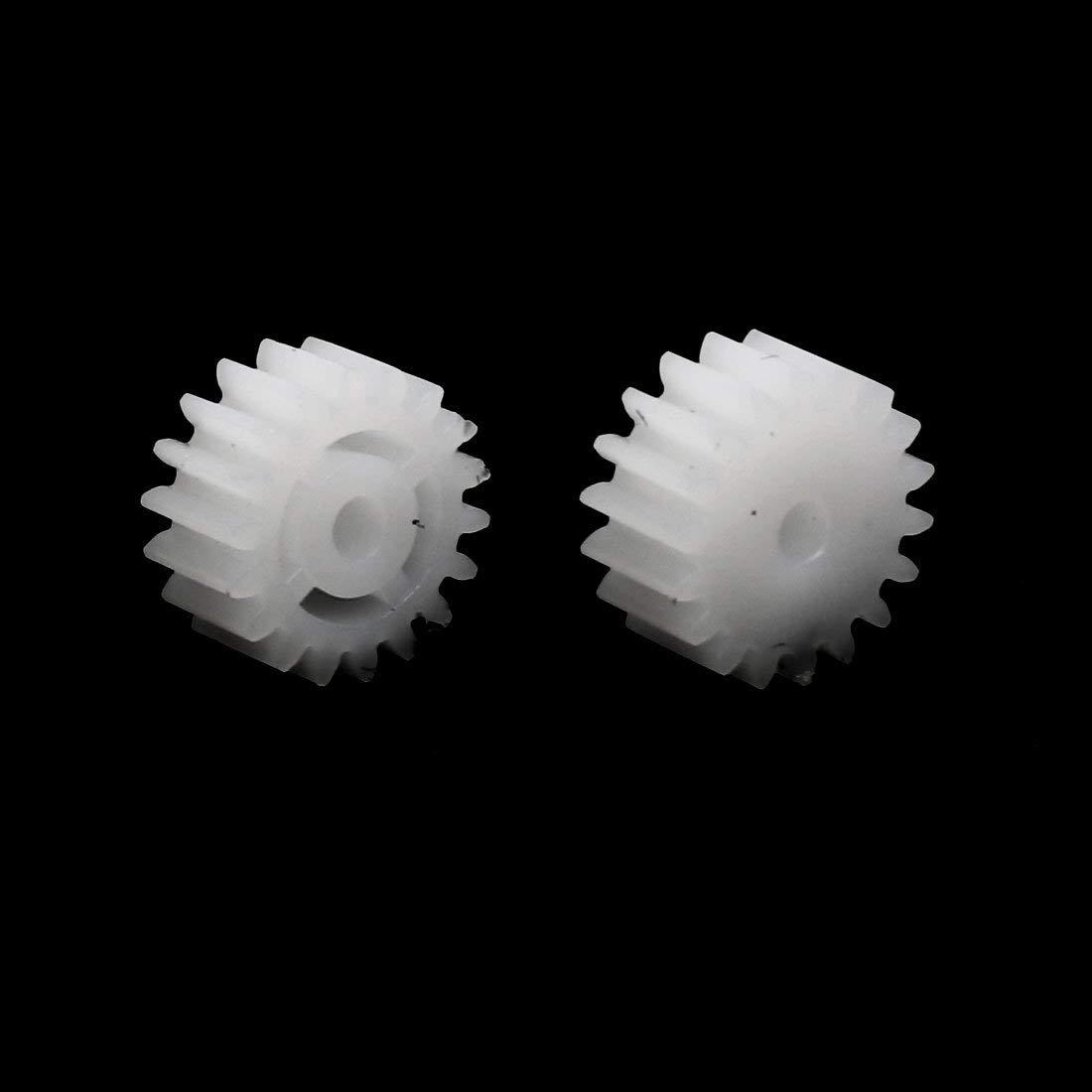 20pc 18 Dent 10mm Dia Plastique Roue dent/ée pour Jouet Car Moteur Arbre
