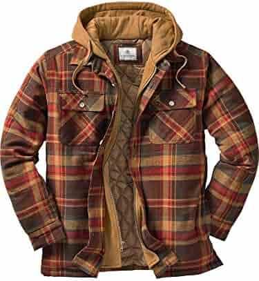 Legendary Whitetails Mens Maplewood Hooded Shirt Jacket