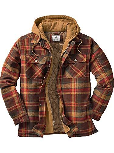 (Legendary Whitetails Men's Maplewood Hooded Shirt Jacket Maplewood Plaid 5XL )