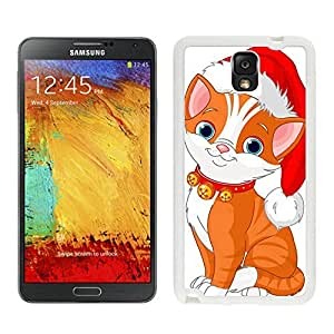 Hight Quality Cartoon Christmas Hat Lovely Cat White Silicone Case For Samsung Galaxy Note 3,Samsung N9005 Phon