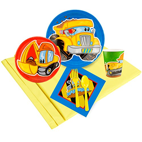 BirthdayExpress Construction Party Supplies - Party Pack for 8 -
