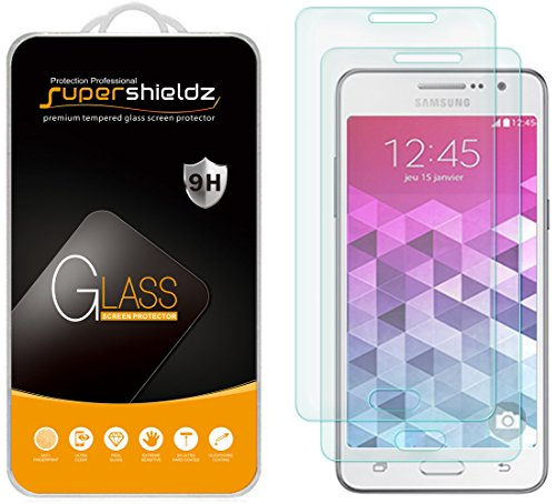 Supershieldz [2-Pack] for Samsung Galaxy Grand Prime Tempered Glass Screen Protector, Anti-Scratch, Anti-Fingerprint, Bubble Free, Lifetime Replacement Warranty