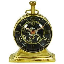 Vintage Style Brass Nautical Mini Table Decor Roman Numerals Clocks Maritime