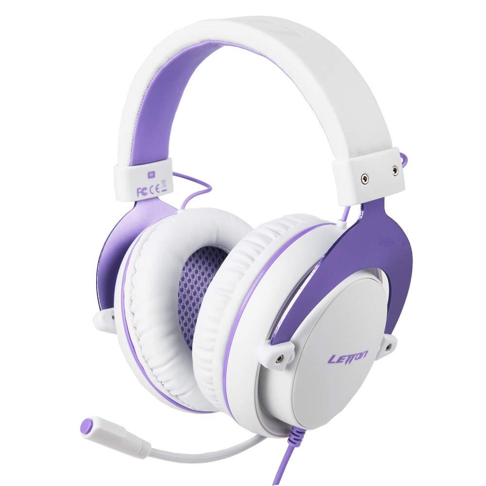 LETTON L2 게임용 헤드셋 PS4 | XBOX | PC | MAC | 스마트 TV 용 진정한 스테레오 사운드 헤드폰 | 소음 제거 마이크 볼륨 컨트롤 포함