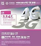 China Mobile 4G・3Gデータ通信無制限 香港4日プリペイドSIM