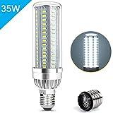 AWE-LIGHT 35W LED E26 Corn Light Bulbs Super Bright (350W Equivalent) with E39 Large Mogul Base for 6500K Daylight 3850Lumens Large Area Lighting - Garage Warehouse Factory Office Barn Street Lamp