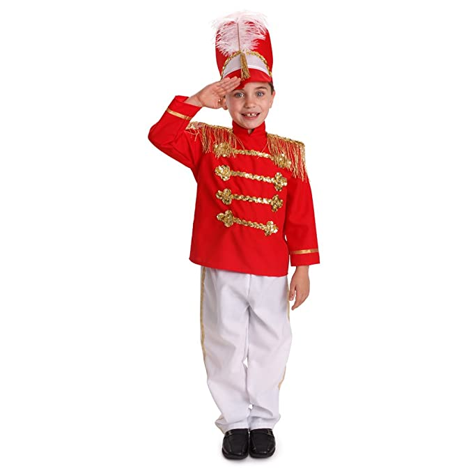 Image Unavailable. Image not available for. Color  Dress Up America Boys  Fancy Drum Major Costume Kids Fancy Marching Band Outfit a980faa47417