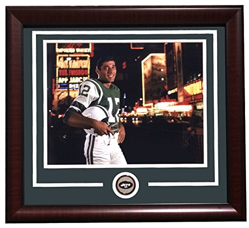Joe Namath Framed 11x14 NY Jets Rookie Times Square Broadway Photo w/ Jets - Ny Times Square Ny 11