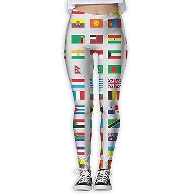 Banderas modernas del mundo Pantalones de yoga de bolsillo ...