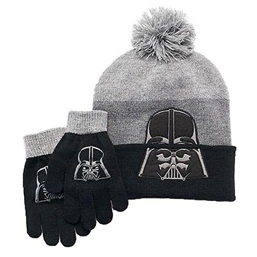 Boys Star Wars Darth Vader Hat & Gloves Set (Vader Gloves)