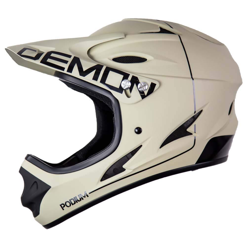 Demon United Podium Full Face Mountain Bike Helmet Tan/Black (Small)