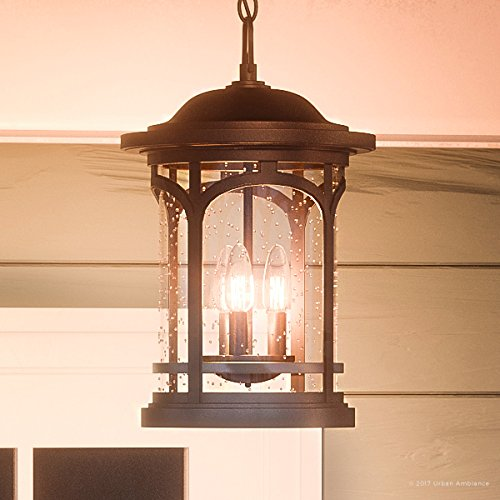 Luxury Rustic Outdoor Pendant Light, Large Size: 18