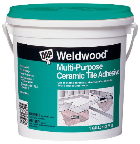Dap 25192 Weldwood Multi-Purpose Ceramic Tile Adhesive, Gallon Size: Gallon, Model: 25192, Outdoor & Hardware Store