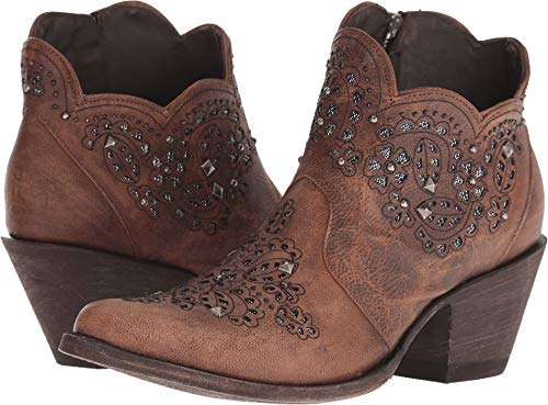 Old Gringo Women's Molly 6-Inch Short Shaft Inlay and Studs Cowboy Boots - Oryx
