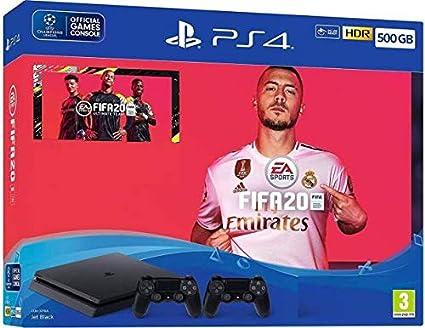 Sony Consola Playstation 4 500GB + 2 Dual Shock + Juego FIFA 2020: Sony: Amazon.es: Electrónica