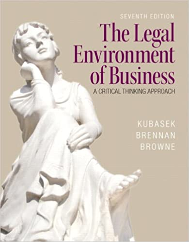 The legal environment of business 7th edition nancy k kubasek the legal environment of business 7th edition nancy k kubasek bartley a brennan m neil browne 9780133546422 amazon books fandeluxe Image collections