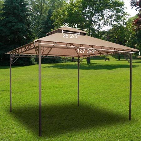 All Weather Heavy Duty 2 Tier Patio Sun Shade 10x10 Ft