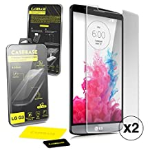 Casebase Premium Tempered Glass Screen Protector Twin Pack for Lg G3