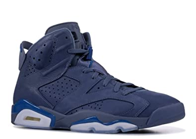 2970d17f04ba9a Nike Jordan Men s Retro 6 Diffused Blue Court Blue Diffused Blue Leather Basketball  Shoes