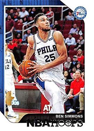 2b2f33173ce 2018-19 Panini Hoops  186 Ben Simmons Philadelphia 76ers NBA Basketball  Trading Card