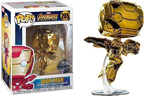 Funko Pop! Avengers Infinity War - Iron Man [Chrome Gold] #285 - [EXCLUSIVE - SUPER RARE!!!]