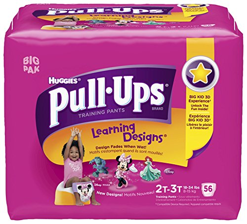 Huggies Pull Ups Girl 2T-3T, 56 ct