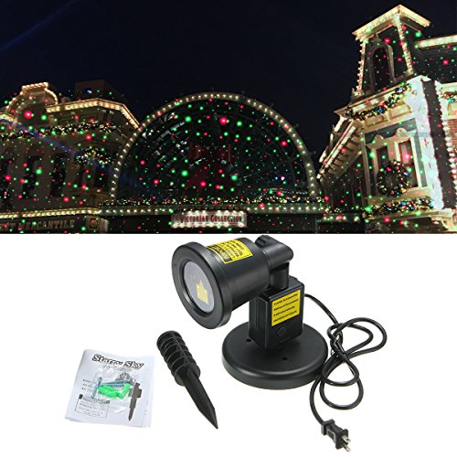 Jeteven Laser Light, Christmas Projector Lights, IP67 Waterproof Red and Green Star LED Light Outdoor for Halloween Xmas Holiday Party Landscape Patio Lawn Stage Show -