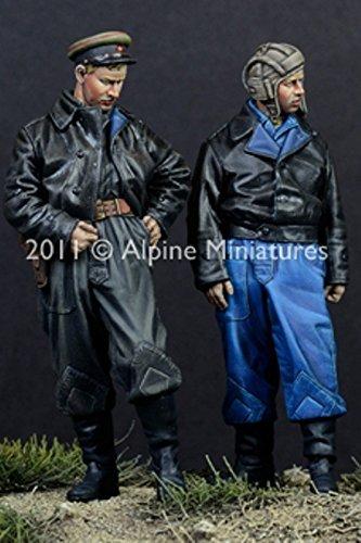 Alpine Miniatures 1 : 35 WWIIロシアAFVクルー1944 / 45 2 Resin Figures Set # 35119 B016NODGSE