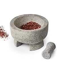 PickUp Sagler Mortar and Pestle Granite stone Molcajete spice grinder 7.8 X 4.7