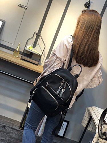 Leather Women Washed Rucksack PU Leather Ladies Puller Black Purse Daily Zipper Bag Girls UTO Backpack Shoulder xwXqnHpp