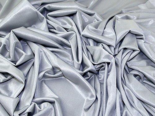Shimmer Slinky - Minerva Crafts Plain Slinky Shimmer Stretch Jersey Knit Dress Fabric Silver - per metre