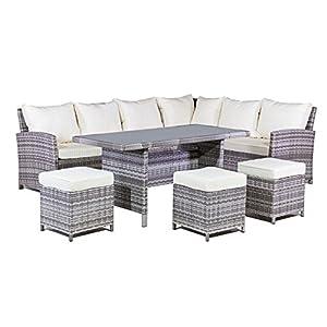 mmt rattan garden furniture l shaped dining corner set cream cushions for 2017 models