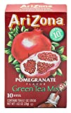 AriZona Pomegranate Green Tea Iced Tea Stix Sugar Free, 10 Count Per Box (Pack of 6), Low Calorie Single Serving Drink Powder Packets, Just Add Water for a Deliciously Refreshing Iced Tea Beverage