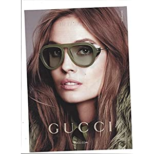 **PRINT AD** With Nadja Bender For Gucci 2014 Eyewear