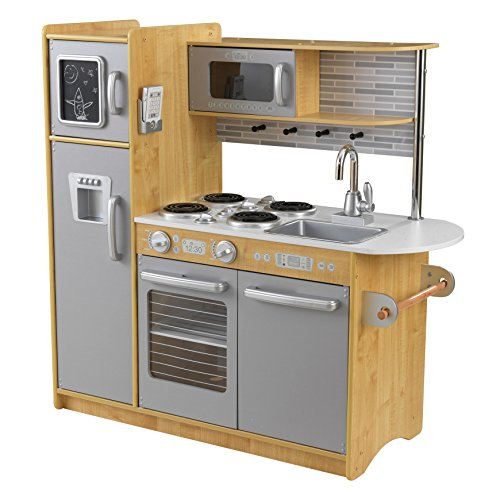 KidKraft Uptown Natural Kitchen is one of the best wooden play kitchens for kids