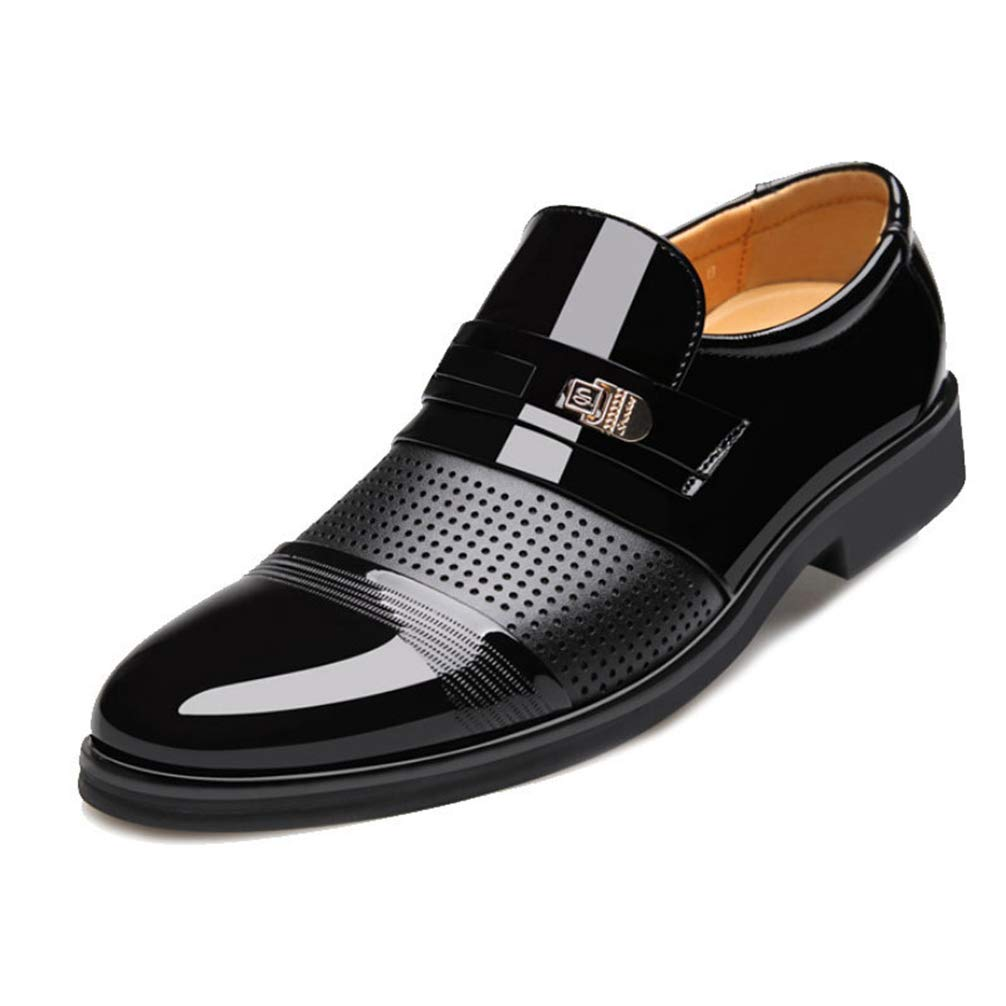 Mens Formal Shoes Pointed Toe Business Wedding Breathable Oxford Shoes