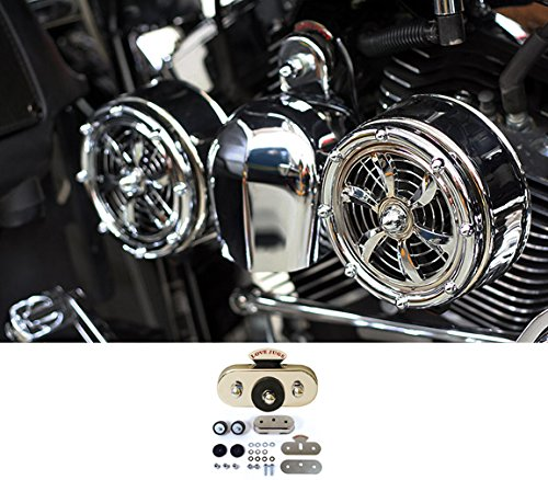 Cooling Motorcycle System (BD-320 Love Jugs Bullets Chrome with Vibration Master Kit V-Twin Engine Cooling System for Harley Motorcycles)