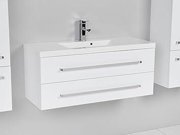 Waschbecken Mit Schrank quentis waschplatz set genua 100 2 teilig waschbecken und